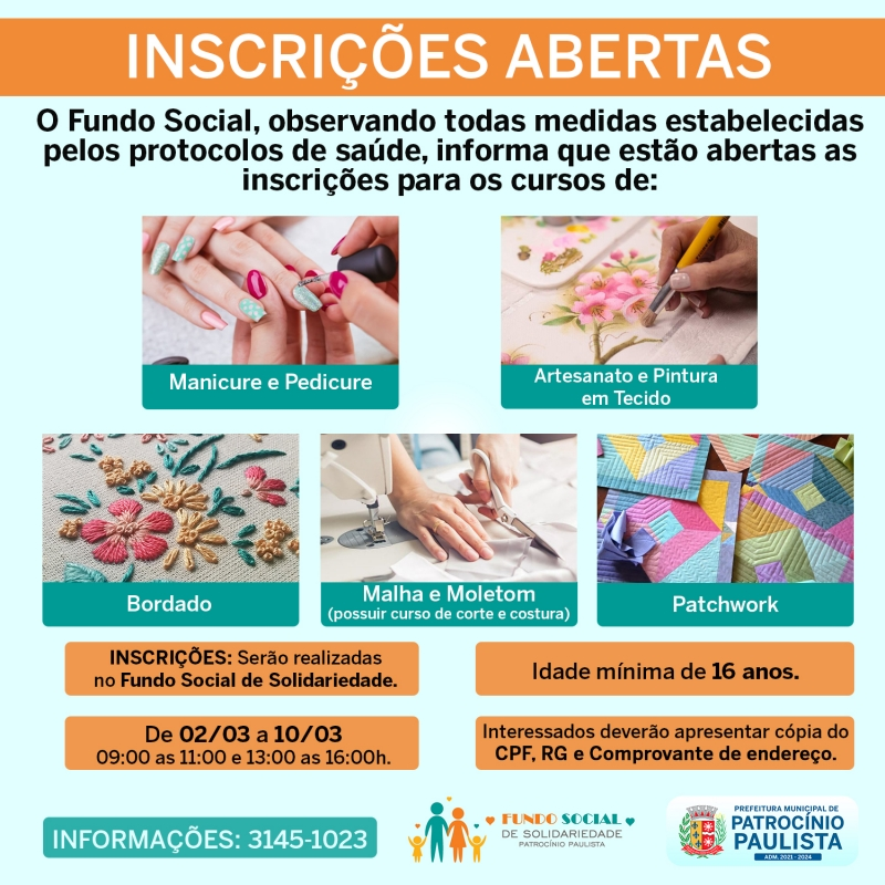 Noticia os-cursos-do-fundo-social-estao-com-as-inscricoes-abertas